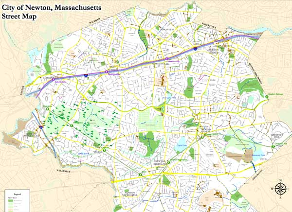 Casey Movers Moving-Company in Newton MA map